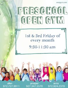 Preschool Open Gym Poster