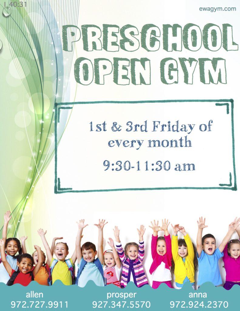 Preschool Open Gym Poster