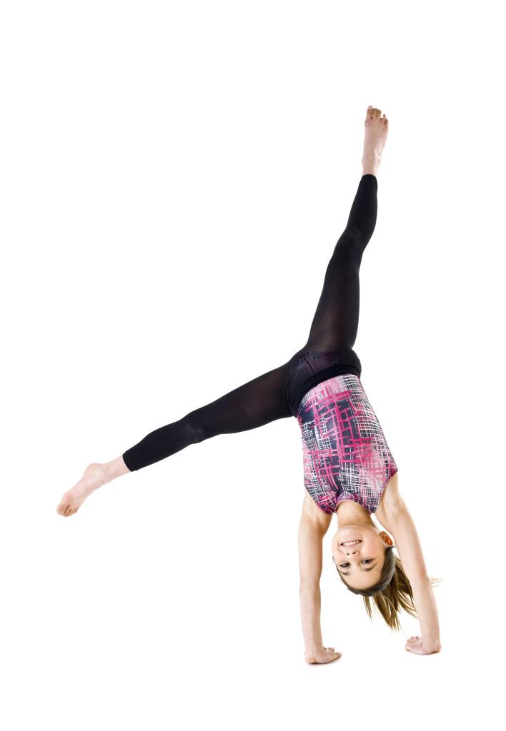 gymnastics girl cartwheel